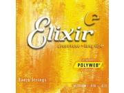 Elixir Banjo Light Strings - Polyweb