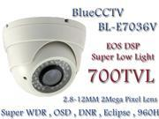 Bluecctv 700TVL EOS DSP Super WDR IR Night Vision Turret Eyeball CCTV Camera 2.8 12mm