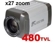 CCTV Box Type Zoom camera 27x Optical Zoom All In One 480TVL ICR Auto Focus Support RS 485 Control