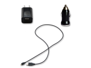 USB Data Cable + AC Wall & Car Charger for  Samsung Google Nexus S 4G SPH-D720