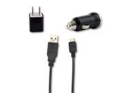 USB Sync Data Cable + AC Wall Charger+ Car Charger for US Cellular LG UX300