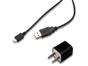 AC Wall Charger + Micro USB Data Cable for HTC Google Nexus One Freestyle Hero S