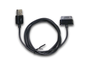 "Black USB Data Sync Charger USB Cable for Samsung Galaxy Tab 2"" 10.1"" 8"" 8.9"" 9"""