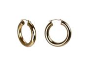 "14Kt Gold Bold Thick 1.25"" Hoop Earrings 14K"