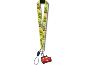 Cars Lightning McQueen Lanyard with Dangle Keychain