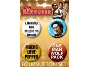The Hangover 4 Piece Button Set