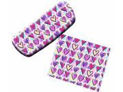Hearts Eyeglass Case and Cleaner