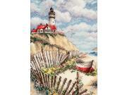 """Gold Collection Petite Cliffside Beacon Counted Cross Stitch-5""""X7"""""""