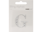 """Bling Alphas Self-Adhesive Rhinestone Letter 1.375""""-Silver Crystal G"""