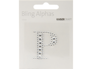 """Bling Alphas Self-Adhesive Rhinestone Letter 1.375""""-Silver Crystal P"""