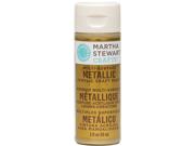 Martha Stewart Metallic Acrylic Craft Paint 2 Ounces-Gold