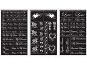 "Rub 'n' Etch Glass Etching Stencils 5""X8"" 3/Pkg-Romantic Moments"