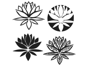 """Image of Crafter's Workshop Templates 6""""X6""""-Lotus Blossom"""