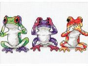 "Jiffy Treefrog Trio Mini Counted Cross Stitch Kit-7""X5"""