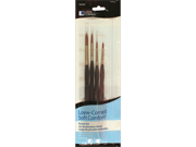 Soft Comfort Brush Set 4/Pkg-Rounds