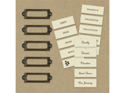 Eco-Modern Metal Art Label Holders & Labels-20 Pieces
