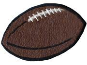 "Wrights Iron-On Appliques-Brown Leather Football 2""X3-1/4"" 1/Pkg"