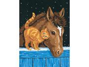 "Learn To Paint! Paint By Number Kit 9""X12""-Pony And Kitten"