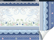 """English Riviera Double-Sided Plus Cardstock 12""""X12""""-Blue"""