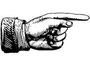 Tim Holtz Red Rubber Stamp-Finger