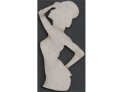 Die-Cut Grey Chipboard Embellishments-Show Girl With Top Hat