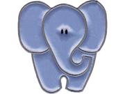 "Wrights Especially Baby Iron-On Appliques-Grey Elephant 4""X4"" 1/Pkg"