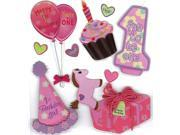 Jolee's Boutique Dimensional Stickers-1st Birthday Girl