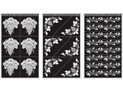 "Rub 'n' Etch Glass Etching Stencils 5""X8"" 3/Pkg-Grape Designs"