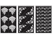 "Rub 'n' Etch Glass Etching Stencils 5""X8"" 3/Pkg-Grape Designs"