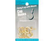Brass Cup Hooks 8/Pkg- 9SIA4P01ZS3958