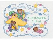 "Twinkle Twinkle Birth Record Counted Cross Stitch Kit-14""""X10"""""" 9SIA14P0BH1725"