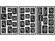 "Over 'n' Over Reusable Glass Etching Stencils 5""X8"" 3/Pkg-Alphabet"