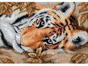 "Gold Collection Petite Beguiling Tiger Counted Cross Stitch -7""X5"""