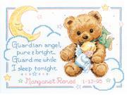 "Cuddly Bear Birth Record Counted Cross Stitch Kit-12""X9"""