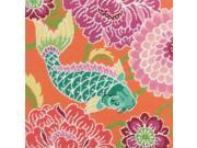 "Koi With Flowers Needlepoint Kit-14""""X14"""" Stitched In Wool & Thread"" 9SIA00Y5151457"