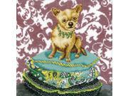 "Ginger Chihuahua Counted Cross Stitch Kit-9-3/4""X9-3/4"" 14 Count"