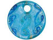Jewelry Basics Glass Accent 1/Pkg-Copper/Blue/Silver Swirl