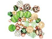 Design Elements Beads-Hot Tango