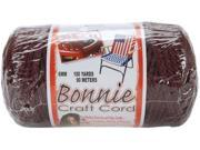 Bonnie Macrame Craft Cord 6mm 100 Yards-Burgundy