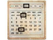 Salvaged Metal Calendar-