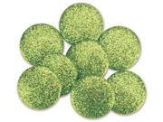 "Dress It Up Big Glitter Dots .75"" 8/Pkg-Lime"