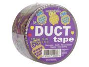 """Duct Tape 2""""X10yds-Purple & Brown Owl"""