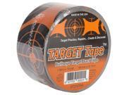 """Duct Tape 2""""X10yds-Orange & Black Circle Target"""