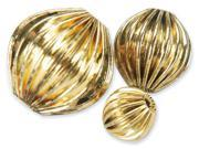 Blue Moon Value Pack Metal Beads-Antique Gold-30/Pkg Assorted Round