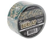 """Duct Tape 2""""X10yd-Turquoise Paisley Print"""