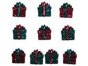 Dress It Up Holiday Embellishments-Small Glitter Presents