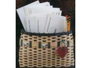 "Burgundy Hill Basket Kits-Wall Basket 9""X7"""