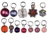Jewelry Basics Metal Charms-Purple Glass/Metal Bead Cluster 12/Pkg