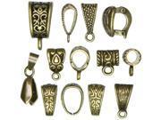 Jewelry Basics Mix Bail Pack 13/Pkg-10mmx15mm Antique Gold
