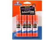 Elmer's Washable School Glue Stick - Purple 4/Pkg-.24oz Each